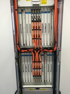 Line Card Chassis - rear view